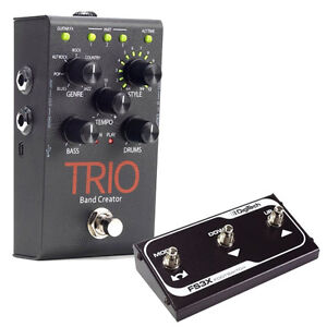digitech trio band creator guitar effects fx pedal with fs3x footswitch. Black Bedroom Furniture Sets. Home Design Ideas