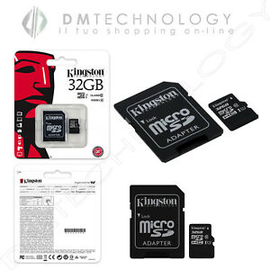 MICRO-SD-32GB-TransFlash-CON-ADATTATORE-KINGSTON-SDC10G2-32GB