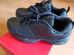 New-Balance-Ladies-Black-Leather-Slip-Resistant-Work-Shoe-Size-9-2E-DISPLAY