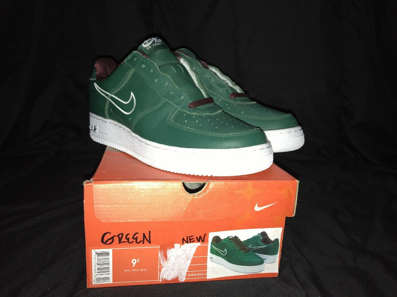 buy popular 9e5d8 20a3f Nike Nike Nike Air Force 1 B Hong Kong 2018 Deep Forest   blanco 624040-