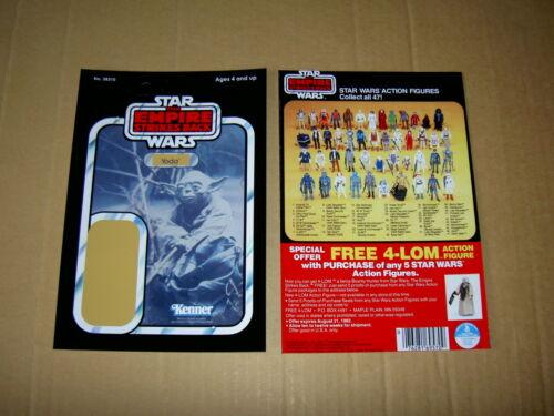 FRONT AND BACKS CARDBACK Vintage Star Wars ALL BACKING CARD/'S,ORIGINAL SIZE