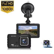 "oneo 3"" Car Dash Cam Front and Rear Camera 1080 Night Vision G-Sensor DVR Record"