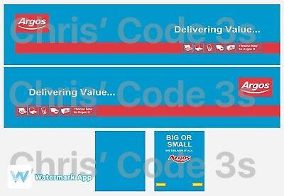 Lee Harrison NHS Code 3 Adhesive Vinyl Trailer Decal 1//50 1//76 1//148