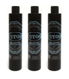 3pz VITOS Shampoo Antigiallo per capelli bianchi 250ml uomo prodotti ... a39ea7313ffe