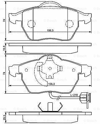 Bosch Brake Pads Set Front Fits Audi A6 C6 2.0 TDI UK Bosch Stockist #1