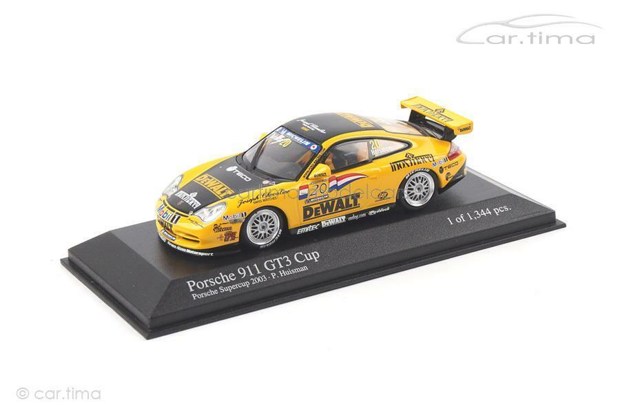 Porsche 911 GT3 Porsche Super Cup 2003 `DEWALT´ Huisman - Minichamps 1 43 400036