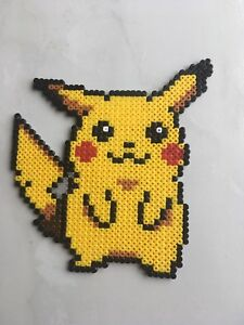 pixel art perles a repasser pokemon pikachu ebay. Black Bedroom Furniture Sets. Home Design Ideas