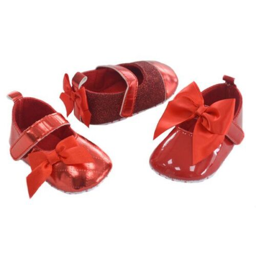 Baby Girls red shoes gorgeous 3 styles
