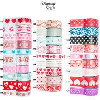 Washi Tape Decorative Masking Adhesive Paper Craft Trim - Love & Hearts