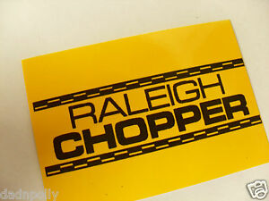 CHOPPER seat sticker.