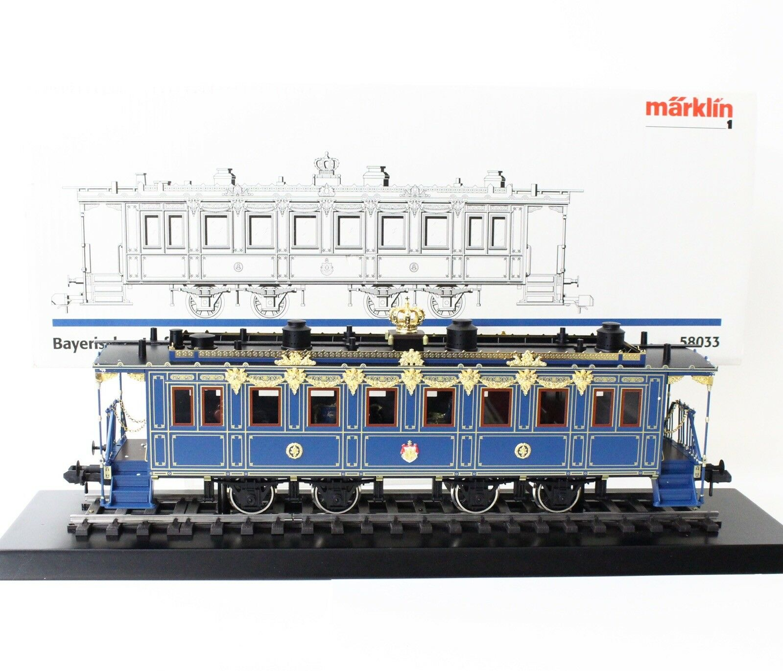 Marklin 58033 1 Gauge Bavarian Royal Court Train (II)K.Bay.Sts.B. Salon Car