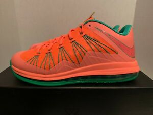 online retailer e8e48 c04f3 Image is loading Nike-LeBron-X-Low-Watermelon-Size-11-5-