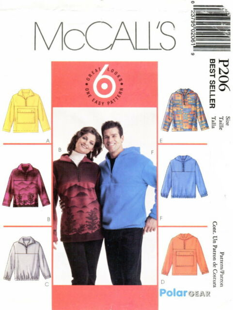 McCalls P485 Misses Fleece Jackets Sewing Pattern ~ Size 8-18