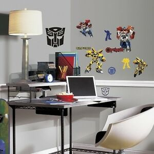 Image Is Loading TRANSFORMERS  AUTOBOTS Wall Stickers 20 Decals Bumblebee Optimus