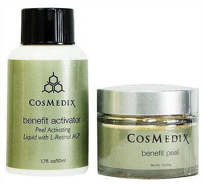 Cosmedix Benefit Peel 1oz and Activator 1.7oz Prof Fresh New