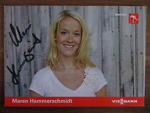 Handsignierte-AK-Autogrammkarte-MAREN-HAMMERSCHMIDT-DSV-Biathlon-Deutschland