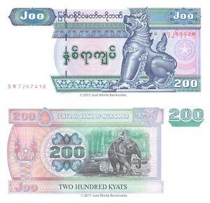 Myanmar-200-Kyats-2004-P-78-Banknotes-UNC