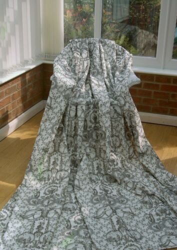 Gris Ardoise français toile de jouy coton velours Rideau Designer Tissu