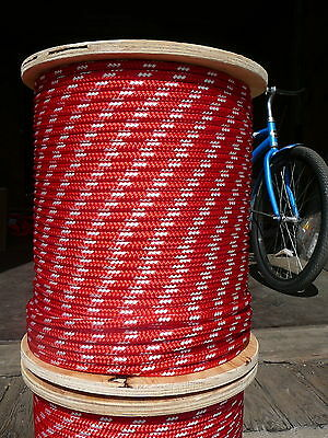 "NovaTech XLE Halyard Sheet Line Dacron Sailboat Rope 5//16/"" x 100/' White//Red"