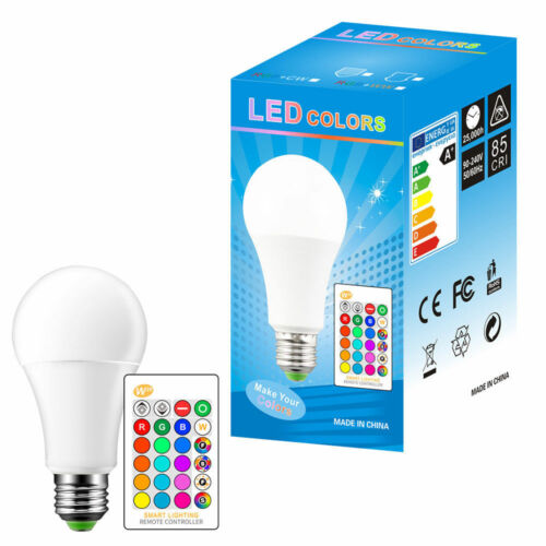 RGB White //WW LED Bulb E27 Dimmable 15W Light Flash Strobe IR Lamp For Bar Party