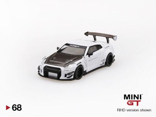NISSAN GT-R R35 LB*Works Type 2 NEUF MINI GT 1:64 TSM White // Carbon Kit