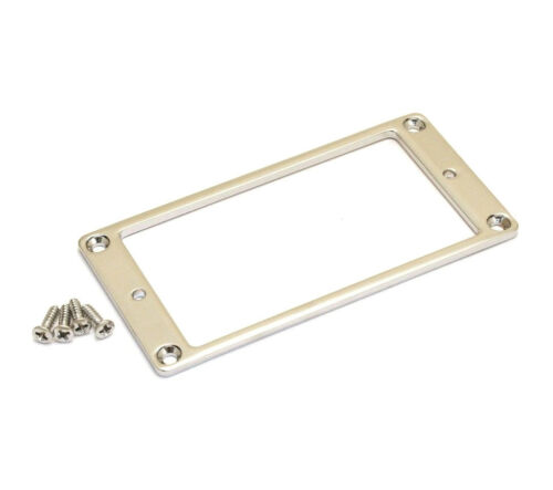 Custom Nickel Low Profile Metal Guitar Humbucker Pickup Ring MR-LPN-N 1