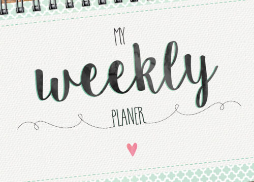 """/""""My Weekly Planer grün/"""" Tischkalender Jahresplaner mit 52 Wochen Kalender"""