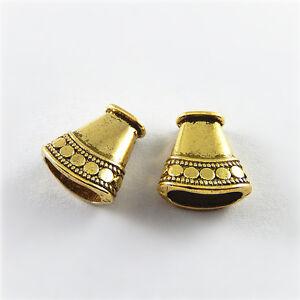 22pcs-Antique-Gold-Cone-Look-Bead-End-Caps-Alloy-Pendants-Charms-Ctafts-52753