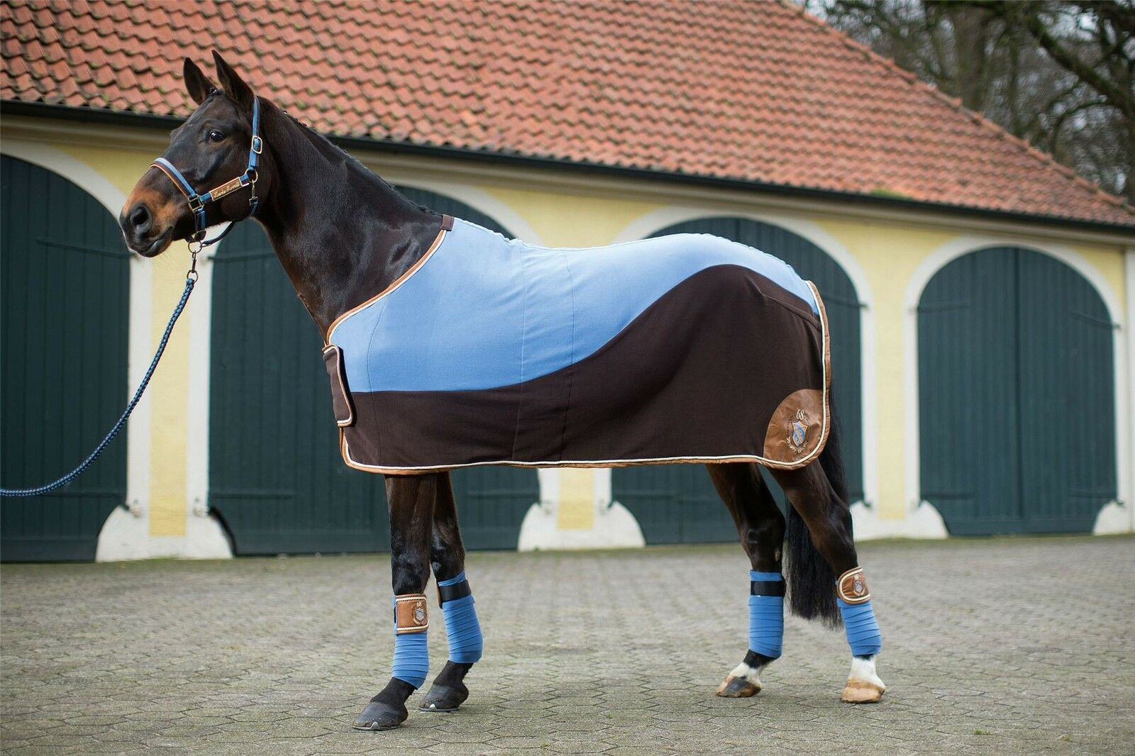 HKM Cooler -Roma- horse riding equestrian rug cooling sheet 5'3 - 7'3  7721