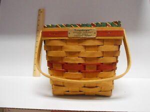 Longaberger Christmas Basket.Details About 1995 Longaberger Christmas Collection Cranberry Basket Liner Protector