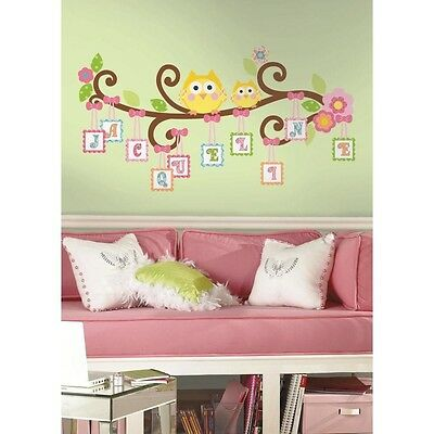 98 HAPPI SCROLL TREE LETTERS BRANCH Giant Wall Decals Baby Room Decor Stickers