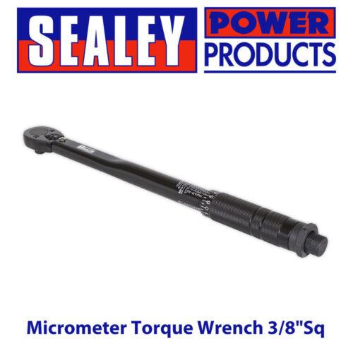 """Sealey AK623B Micromètre Clé Dynamométrique 3//8/""""Sq Drive Calibré Série Black"""
