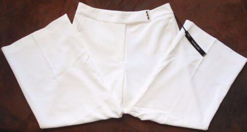 White House Black Market White Soft Drape Crop Pants Sz 2 NWT
