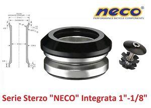 0080-Serie-Sterzo-NECO-Integrata-1-034-1-8-034-Nera-per-bici-20-24-26-MTB-Mountain-Bik