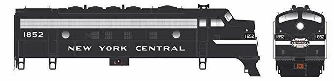 Bowser HO F-7A New York Central EMD F7A Diesel Locomotive