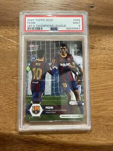 Topps now UCL 2020-21 card 5 pedri barcelona Champions League debut RC Rookie