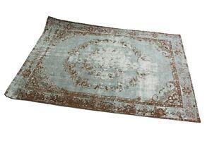 Teppich Jacquard Kelim Vintage Himalaya Turkis Braun 230 X 160 Cm