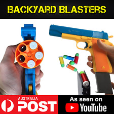 Backyard Blasters Rubber Bullet Toy Gun Set - Colt 1911 and .45 Revolver