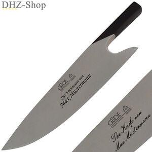 Details zu Kochmesser Messer Geschmiedet GÜDE Solingen THE KNIFE GRAVUR  Kostenlos