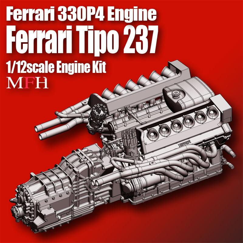 Model Factory Hiro 1 12 Ferrari 330P4 Engine kit