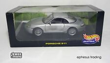 Hot Wheels 1998 Porsche 911 996 Carrera C2 Cabrio Hardtop 3.4l Silver 1/18 MINT!