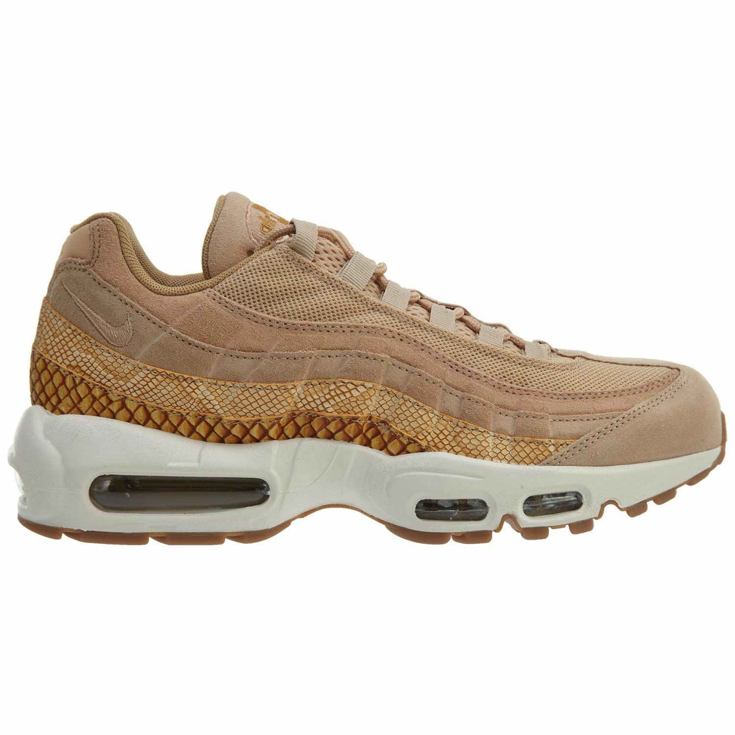 Nike Air Max 95 Premium SE Mens 924478-201 Vachetta Tan Running Shoes Size 8