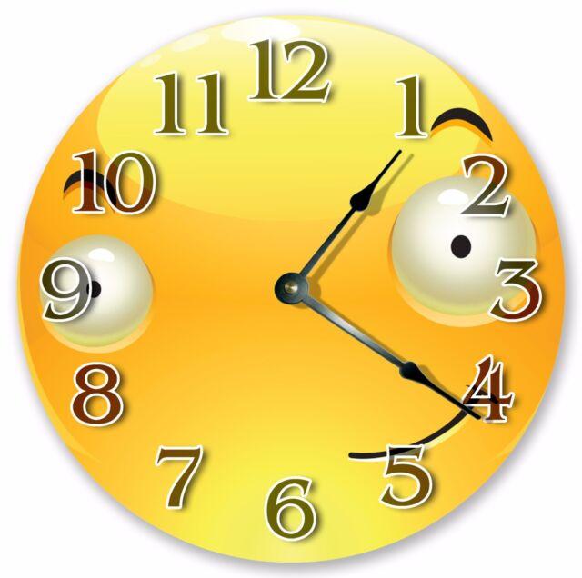 "Large 10.5/"" Wall Clock 3212 10.5/"" BROWN BRICKS WALL CLOCK Home Décor Clock"
