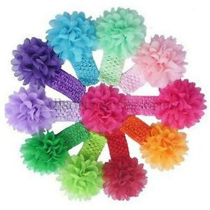 Baby-Girls-Large-Ruffle-Flower-Lace-Hairband-Soft-Elastic-Headband-Hair-Band