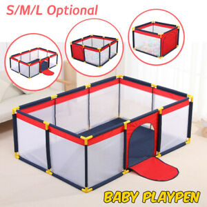 Baby Playpen Children Toddler Kids Fence Panel Indoor Outdoor Play Pen Ball Mat