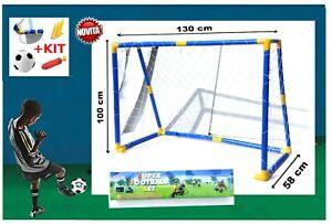 Bon CœUr Porta Calcio Per Bambini Porta Con Rete E Pallone Cm. 130x58x100 Cm Marchio Ce