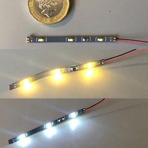 UK 12v Miniature LED Strip light for Model Railway Interior -Bright / Warm White