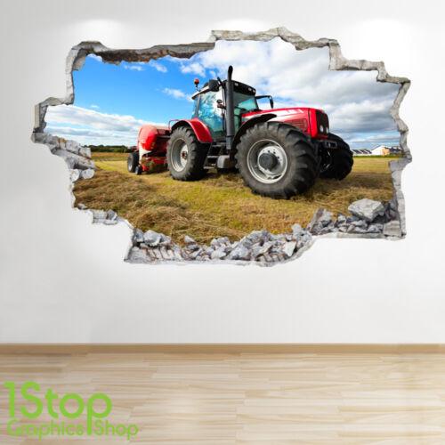 Schlafzimmer Lounge Natur Farm Yards Wand Tractor Wandaufkleber 3D Optik