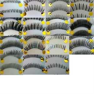 10-Pairs-Natural-False-Eyelashes-Invisible-Clear-Band-For-Women