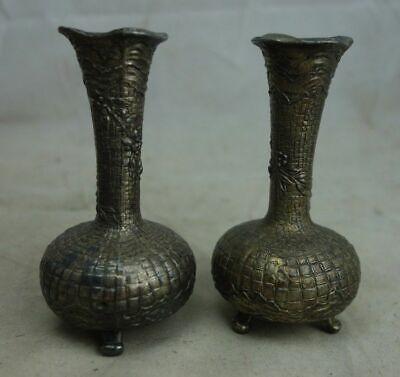 KüHn Paar Antike Kleine Metall Vasen Buy One Give One